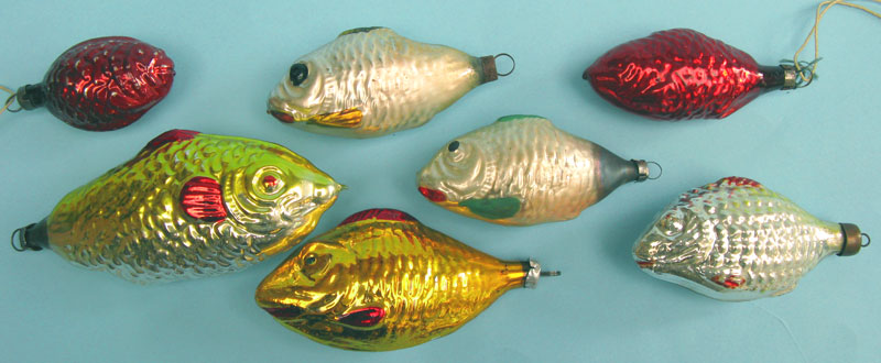 Fish with standard cap; largest 9cm long and the smallest 4cm.
