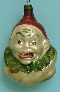 """Joey"" clown head; 5,5cm; there are many variations."