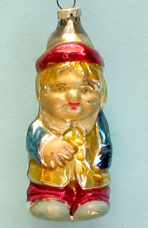 Boy with a cap; rather thick glass; pleasant molding; Russian ?