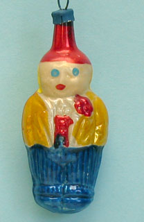Small boy with red waistcoat and flower in his lapel; rather poor molding; appears to be unsilvered !