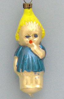 Child sucking finger; color variation; notice the way the hair has been painted.