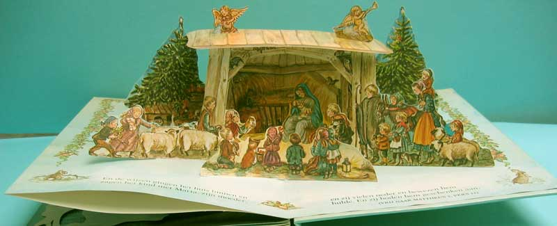 "N17:Nativity which is part of the panorama book ""Een boek voor de Kersttijd"" (A book for Christmas Time), a Dutch version of Tasha Tudor's 1979 edition."