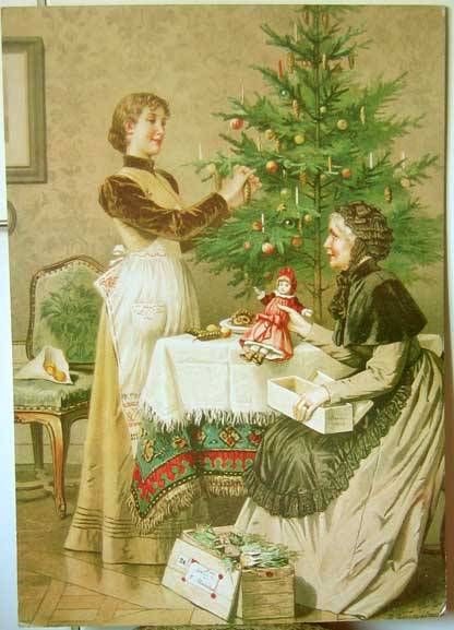 "Print: 81,5 x 57,5 cm. 1950's? A reproduction of a print of 1892; ref. Eva Stiller's ""Christbaumschmuck"" , page 41."